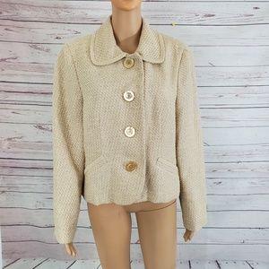 Talbots Blazer Tweed Jacket 14